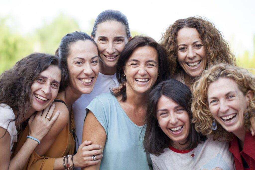 an image of smiling women